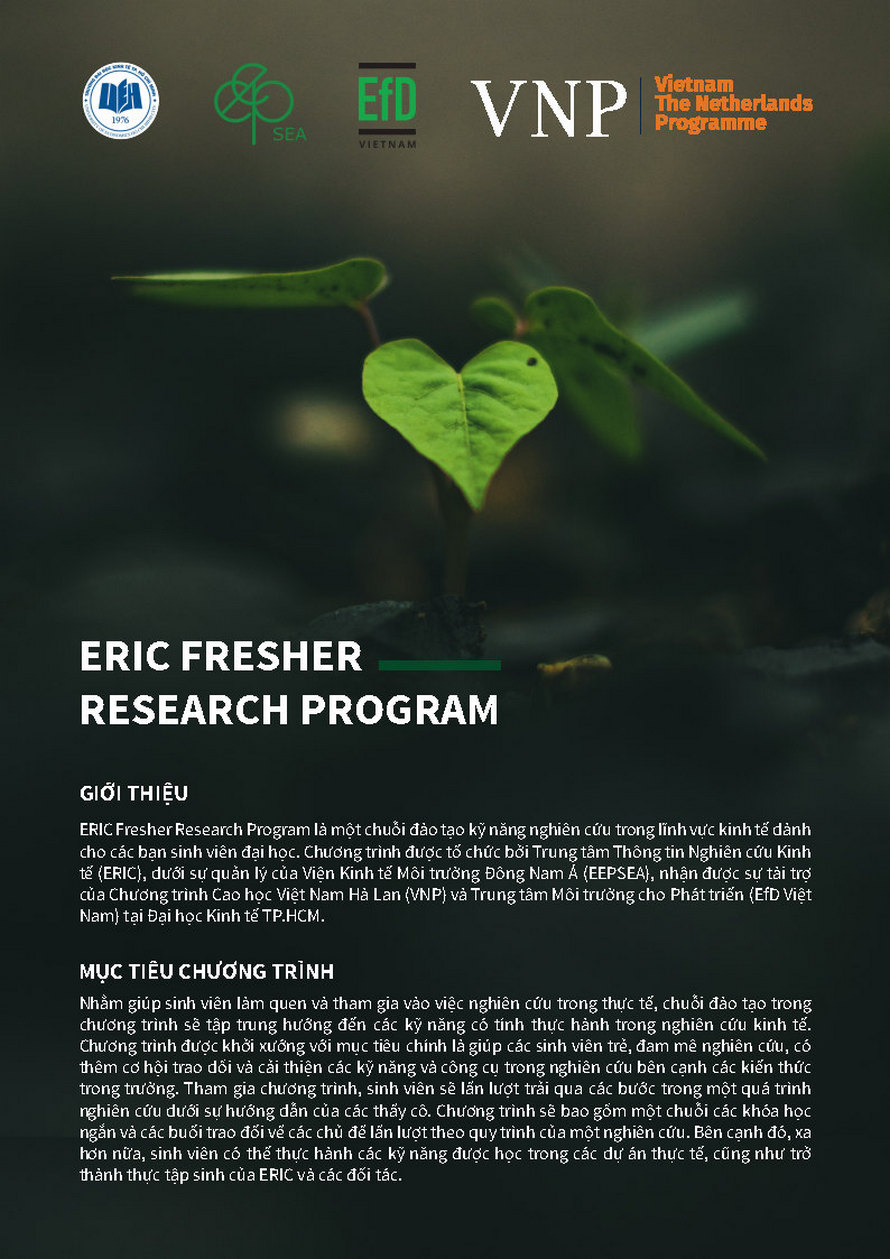 ERIC FRESHER RESEARCH PROGRAM FOR STUDENTS